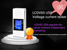 New LCD Dual USB Mini Voltage and Current Detector USB Charger Tester Meter Detector Mobile voltage