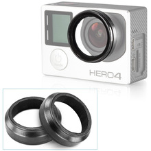 2PCS UV Action Camera Protective Accessories Lens Cover Optical Glass Lens Cover for Gopro Hero 4 3+ 3