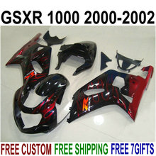 Buy Bodywork ABS plastic fairings for Suzuki gsxr1000 2000 2001 2002 red flames black fairing kit GSXR 1000 00 01 02 IU10 for $335.80 in AliExpress store
