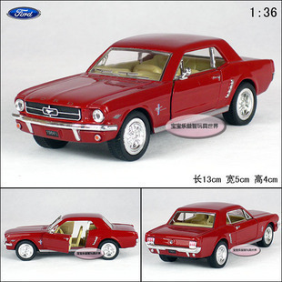 New Ford 1964 Mustang 1:36 Alloy Diecast Model Car Toy collection Red B1855(China (Mainland))