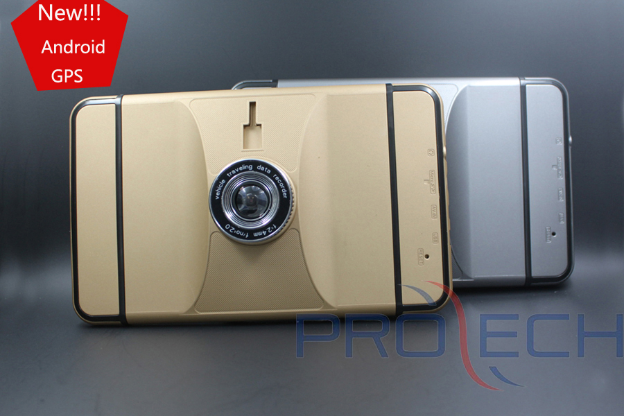 Newest car styling luxury gold color Car GPS DVR with full function Android GPS DVR(China (Mainland))