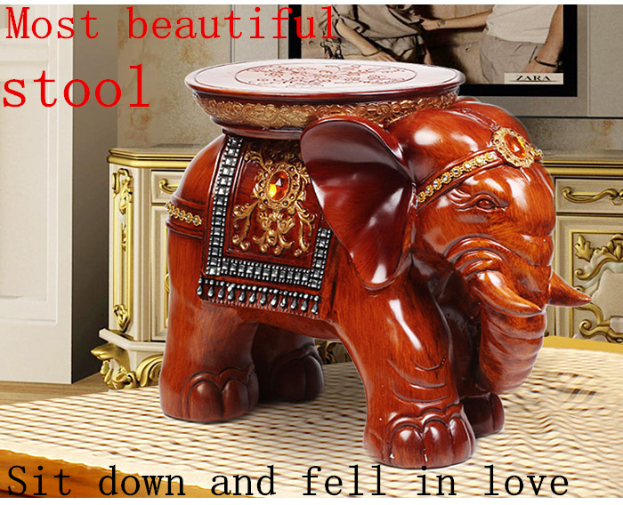 Elephant Stool,Housekeeping &amp; Organization,Home Decor,Resin Wood,Animal style Chair,Large size,living room furnishings,cute<br><br>Aliexpress