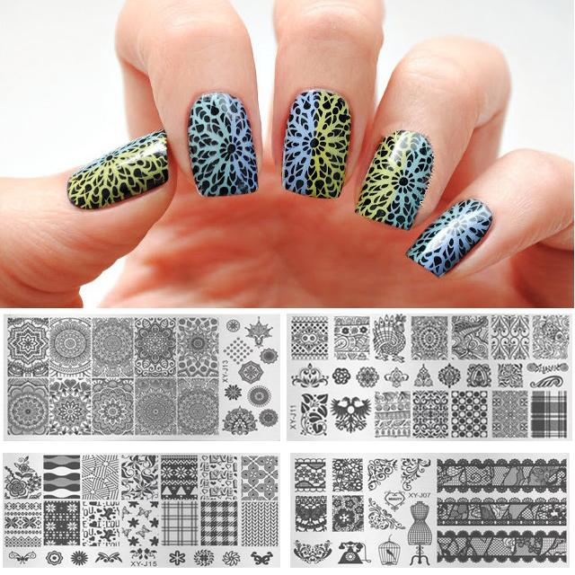 Wholesale Kaleidoscope Nail Art Metal Plate Image Stamping ...