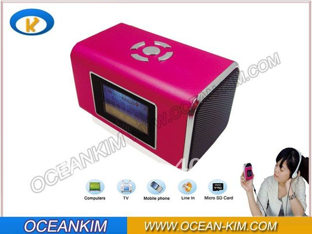 Portable Mini Digital Speaker with Micro SD / TF / USB /FM/ LED Screen TT6 Singapore packet free shipping