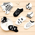 CAT Warm comfortable cotton bamboo fiber girl women s socks ankle low female invisible color girl