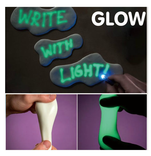 Гаджет  Novelty Noctilucent thinking putty soil clay GLOW in dark gift for kids office toy/solid liquid write light FREE flashlight eyes None Игрушки и Хобби