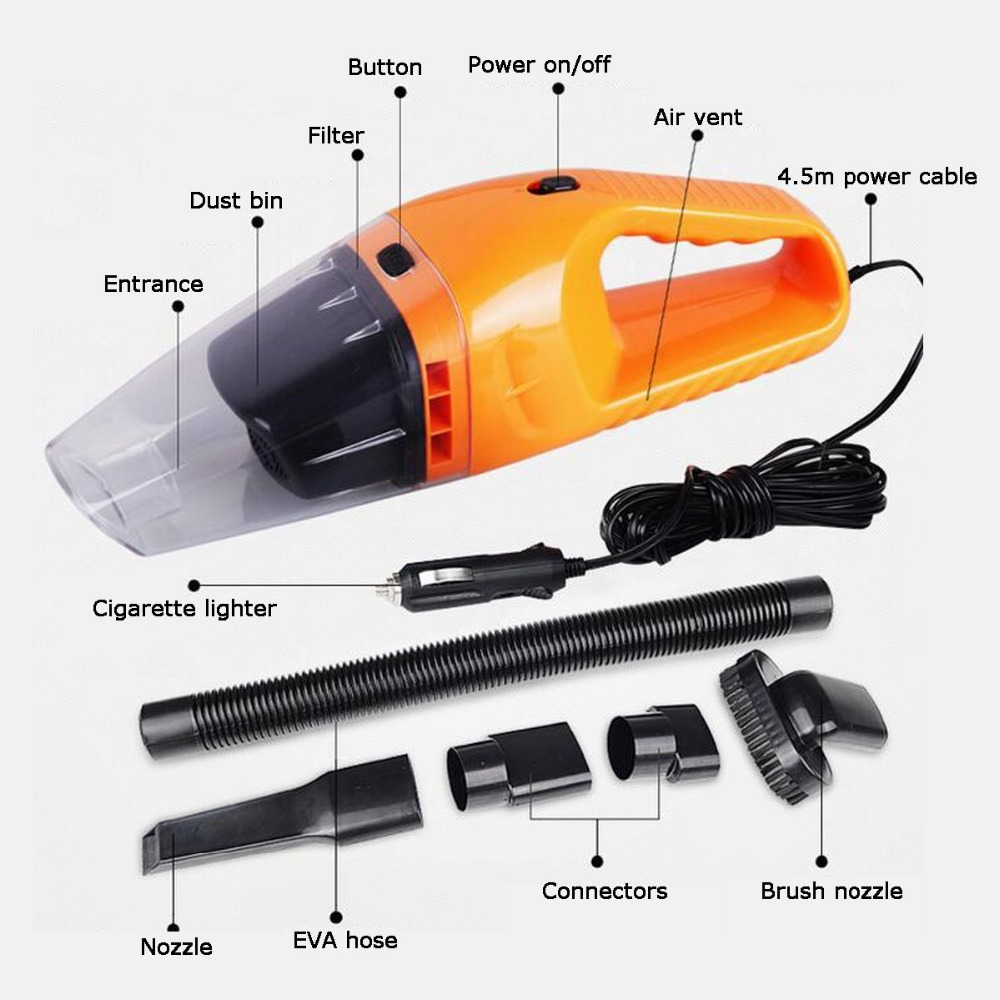 Car Vacuum Cleaner Wet And Dry Dual-use Super Suction 12v 120W Auto Accessories Portable Handheld Car Dust Collector Cleaning(China (Mainland))
