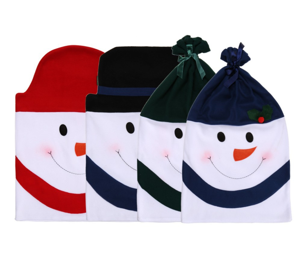 Covers Home Party Dining Table Christmas Snowman Gift Dinner Decor