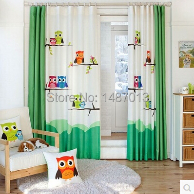 pastoralen cartoon eule kinderzimmer. Black Bedroom Furniture Sets. Home Design Ideas