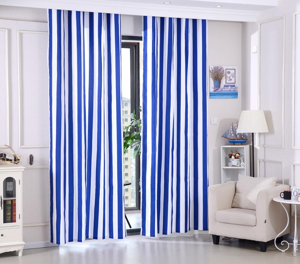 achetez en gros bleu blanc ray rideaux en ligne des grossistes bleu blanc ray rideaux. Black Bedroom Furniture Sets. Home Design Ideas