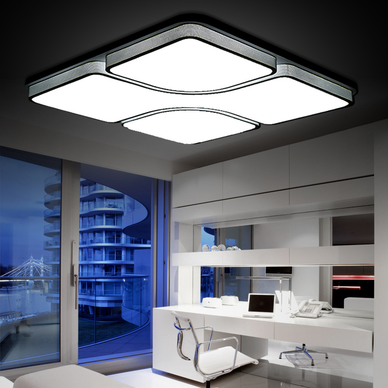 Led ceiling light modern living room lamp square ceiling for Modern living room ceiling lights