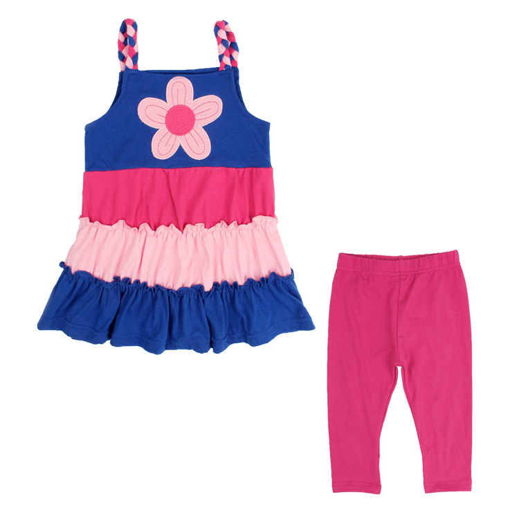 children hoodies NOVA baby kids girls wear clothing set printed flowers polka dots summer causal HG4818