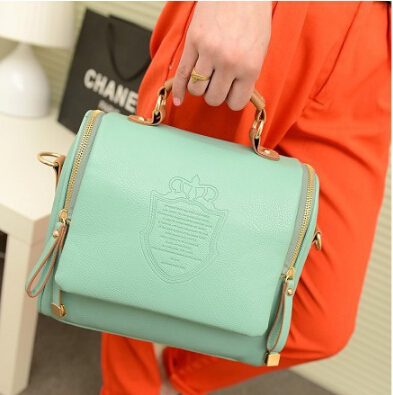 hot Sell!2015 NEW autumn European and American Style pu Solid Englon crown Fashion Vintage Women Handbags Shoulder Messenger bag(China (Mainland))
