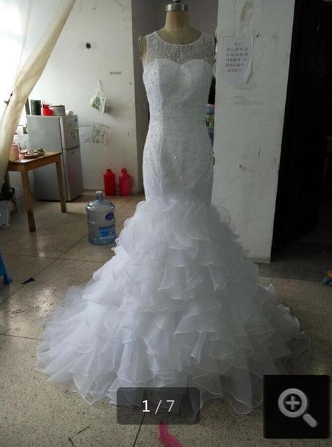 Реальная картина великолепные кружева аппликации бесплатная доставка свадебные платья ...