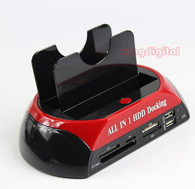 "Free Shipping All In 1 HDD Docking Station USB2.0 3.0 OTB OTC For All 2.5"" Or 3.5""IDE/SATA HDD Y106(China (Mainland))"