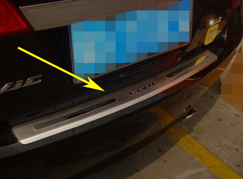 High quality outer rear bumper guard plate for Honda Civic 2006-2011 stainless steel car-styling(China (Mainland))