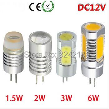 5 x DC 12V G4 Led Lamp 1.5W 2W 3W 4W COB Home Lighting Spotlight Car RV Marine Boat LED Lights Bulbs Lamps Chandeliers(China (Mainland))