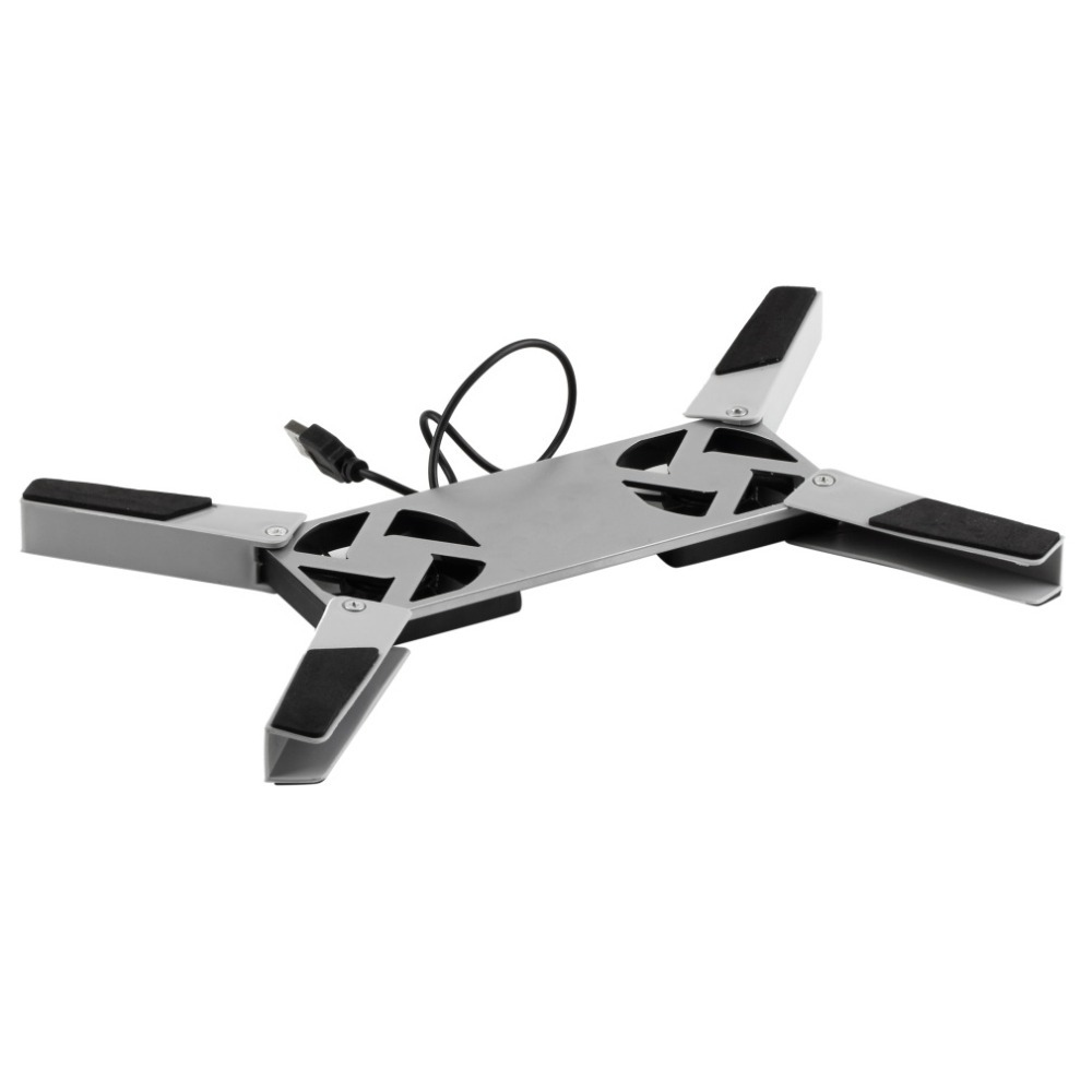 High Quality Silver Folding colorful USB2.0 Laptop Notebook 2 Fans Cooler Cooling Pad(China (Mainland))