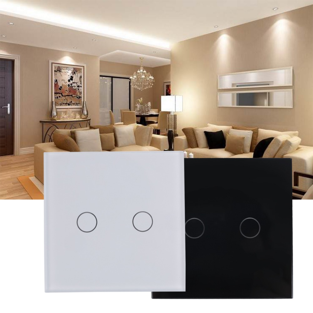 Brand New High Quality Smart Capacitive 2 Way Touch Control Wall Panel Light Switch LED Backlight Hot Selling Free Shipping<br><br>Aliexpress
