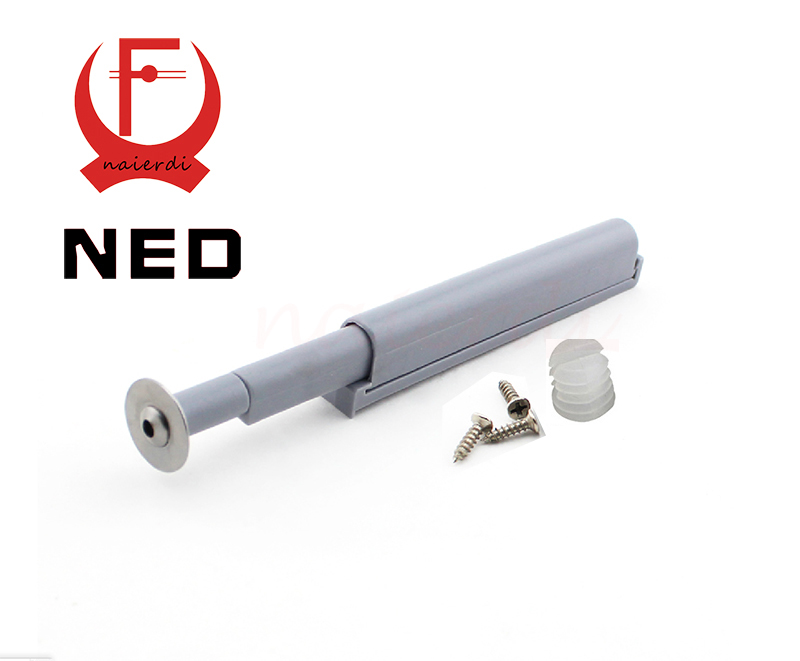 NED 5Set/Lot Gray White Kitchen Cabinet Door Stop Drawer Soft Quiet Closer New Push To Open System Damper Buffers With Screws(China (Mainland))