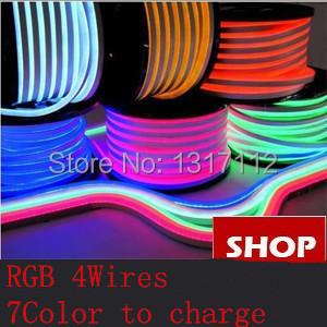 RGB LED Neon Flex 12V/24V/120V/230V 4 wires 80leds/m Dip SMD5050 712LEDs/M RGB Neon Light with DMX Control(China (Mainland))