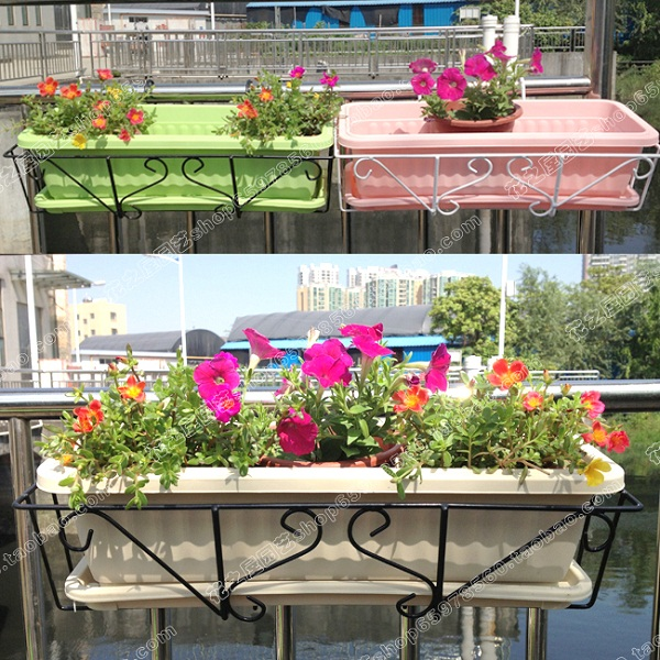 Plastic Flower Pot Extra Large Planters Balcony Kitchen