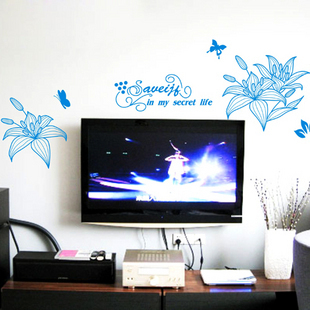 Child home accessories decoration tv wall stickers bedroom wall stickers(China (Mainland))