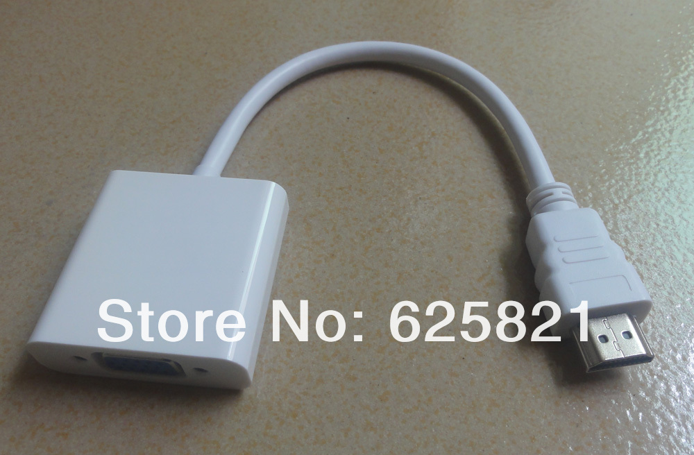 20pcs Free shipping HDMI TO VGA cable for ipod iphone ipad(China (Mainland))