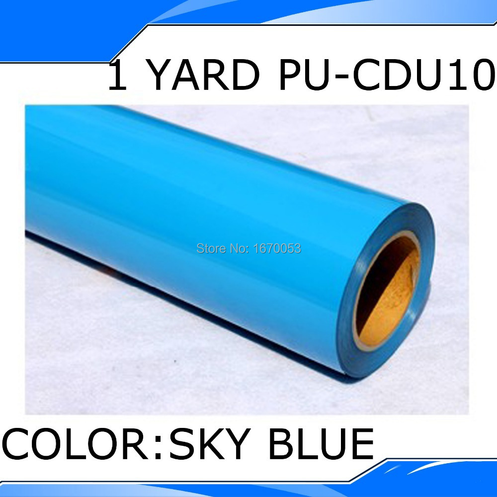 PU Heat Transfer Film and Heat Transfer Thermo Film For Garment 50x100cm in CDU10 Blue Color(China (Mainland))