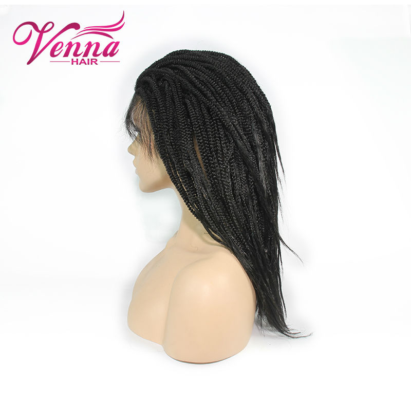 Фотография african american braided wigs Synthetic Hair Heat Resistant Soft Synthetic Lace Front Wigs with Baby Hair Box Braid