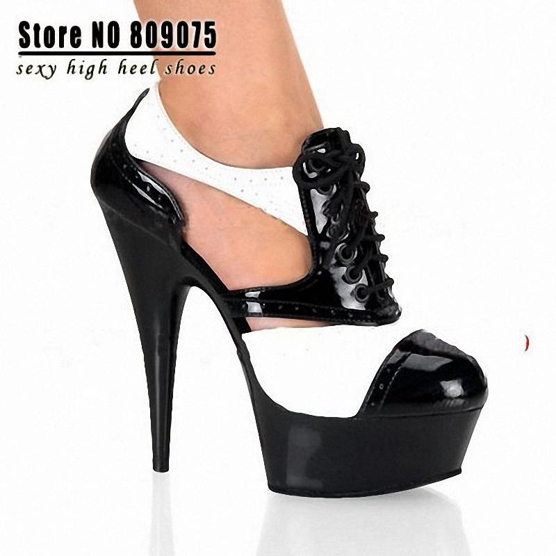 free shipping 6 inch sexy clubbing stiletto high heels cut. Black Bedroom Furniture Sets. Home Design Ideas