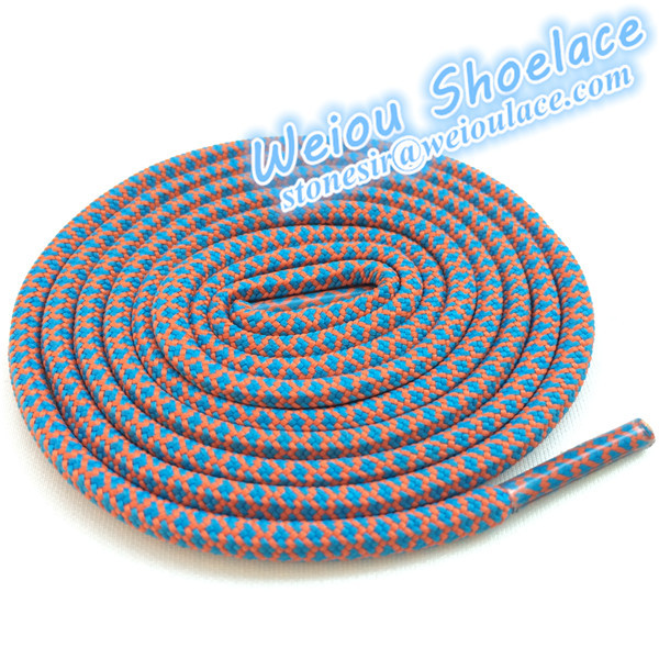On Sales 20 pairs / Lot rope lacing custom logo shoelace charms two tone laces(China (Mainland))