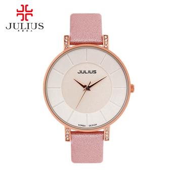 2015 ladies leather wristwatch women dress rhinestone watches fashion casual Japan quartz watch Julius 766 Hot best female clock