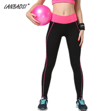 Buy LANBAOSI Women's Running Tights Sweatpants Elastic Waist Sideline Slim Fit Gym Fitness Workout Yoga Dance Outdoor Sports Pants for $12.03 in AliExpress store