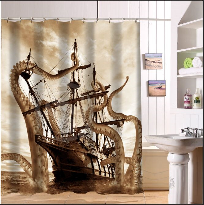 Online Get Cheap Octopus Shower Curtain Aliexpress