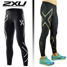 2XU кроссовки фитнес-беговая компрессионные колготки длинные брюки спортивные леггинсы мужские центр одежда и беговых дорожек S-XXXL