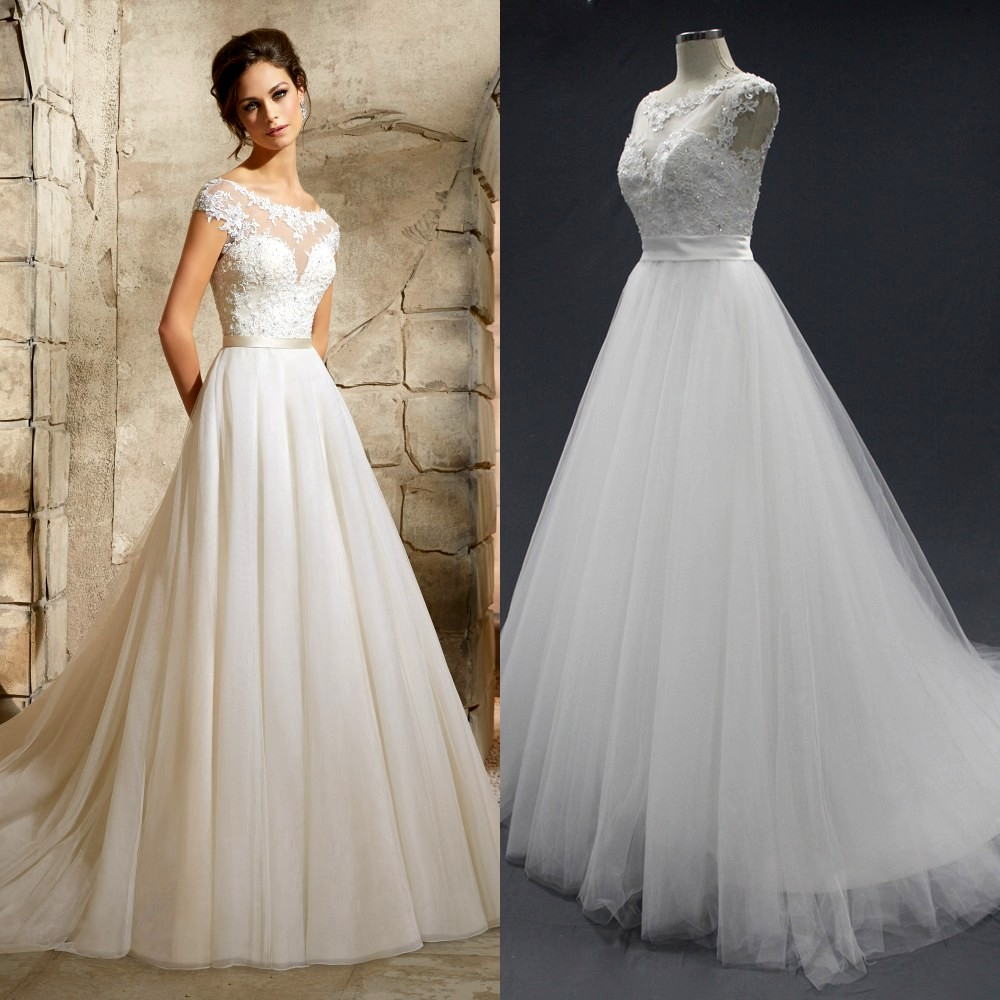 Princess Wedding Dress Big : Girl princess wedding dresses vestidos de novia big gown white