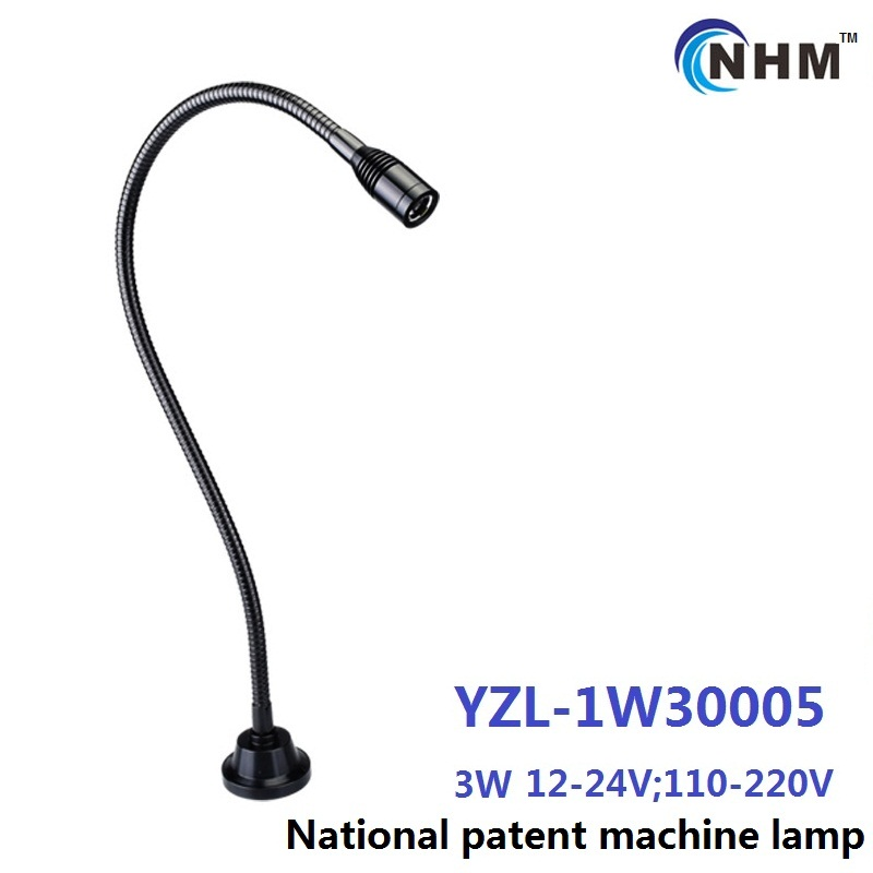 3W 110V 220V aluminium Flexible arm industrial task work lighting gooseneck CNC miller planer Machine lathe equipment work lamp(China (Mainland))