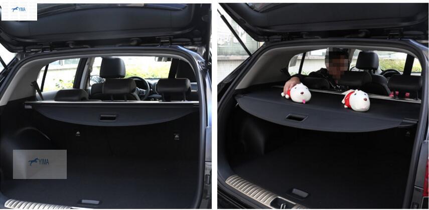 Interior For KIA Sportage 2016 Black Rear Trunk Cargo Cover Shield 1 pcs(China (Mainland))