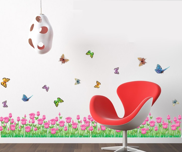 tulip border wall stickers - photo #5