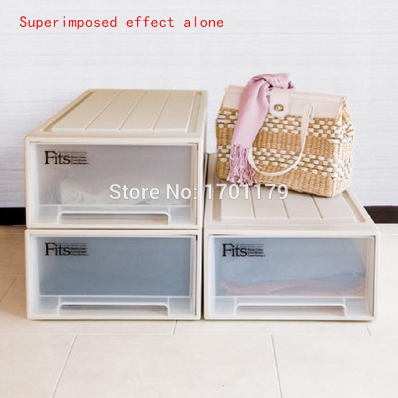 Modular drawer cabinet plastic box storage box finishing box(China (Mainland))