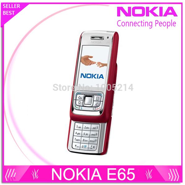 Refurbished Nokia E65 Mobile Phone Unlocked Original Phone Gsm Cell Phone Quadband 3G WIFI Bluetooth Email Mp3 free shipping(China (Mainland))