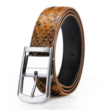 Mens Top Designer High Quality Snake Print Belts 2016 Brand Luxury Cowhide Belt Genuine Leather Pin Buckle Casual Waistband Q288
