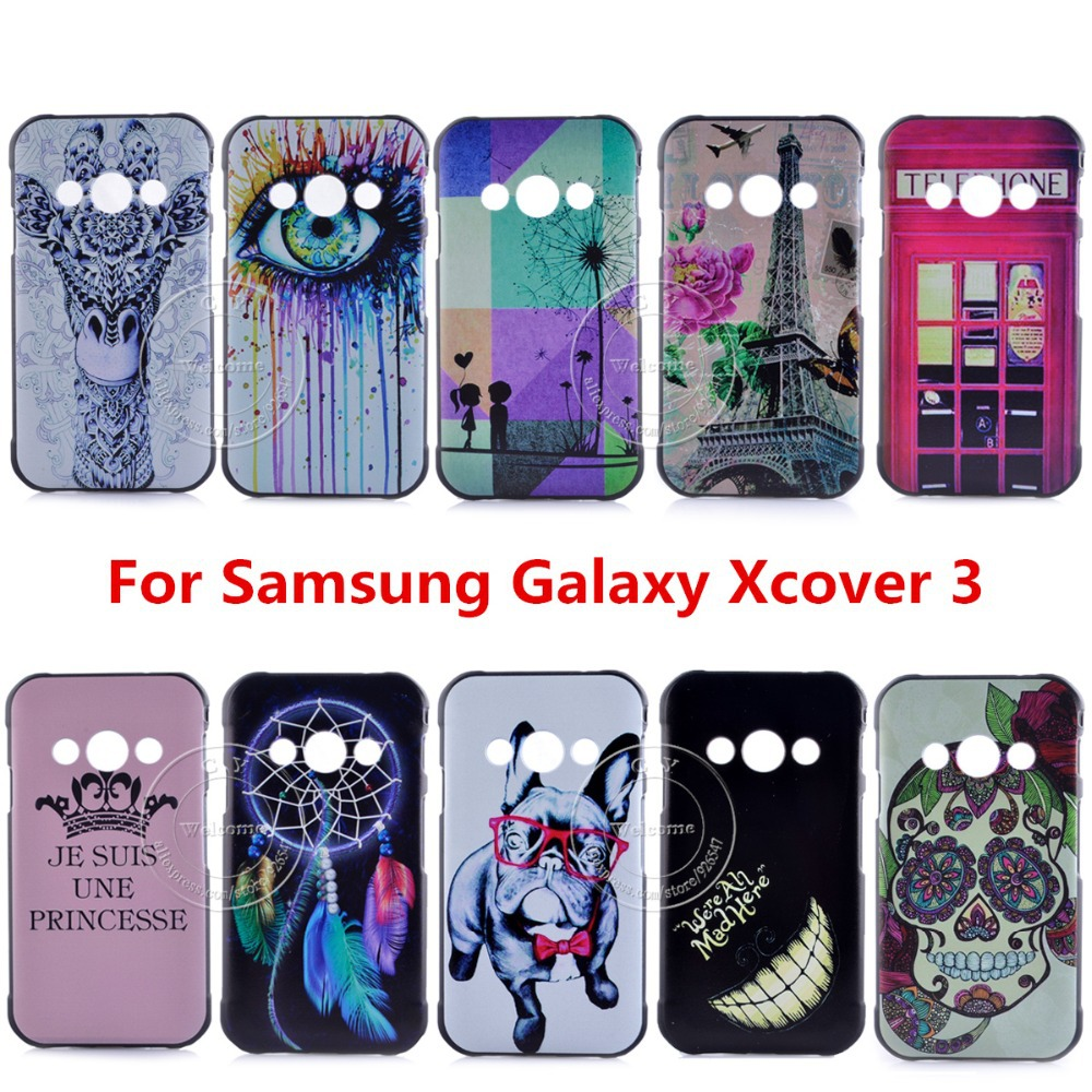Newest Super Hot Brand Fashion Design Pattern Hard Back Cover Case For Samsung Galaxy Xcover 3 Xcover3 G388F 3-east(China (Mainland))