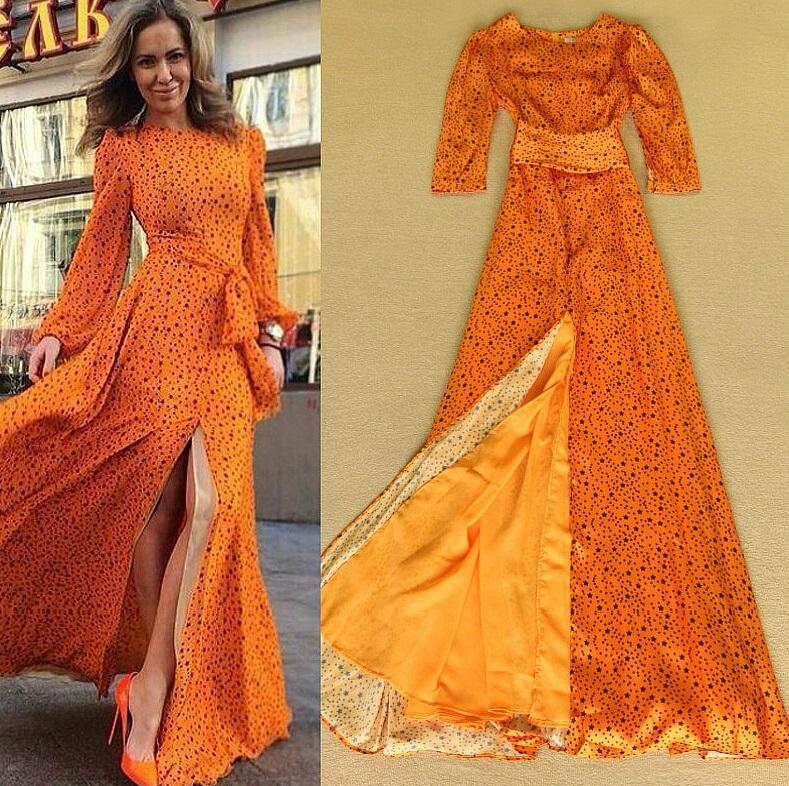 Купить Осеннее Платье В Пол