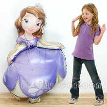 Giant 40 inch Princess Sofia Foil Balloon Queen Sophia Aluminum Balloons princess Party Decoration Inflatable Air Helium(China (Mainland))