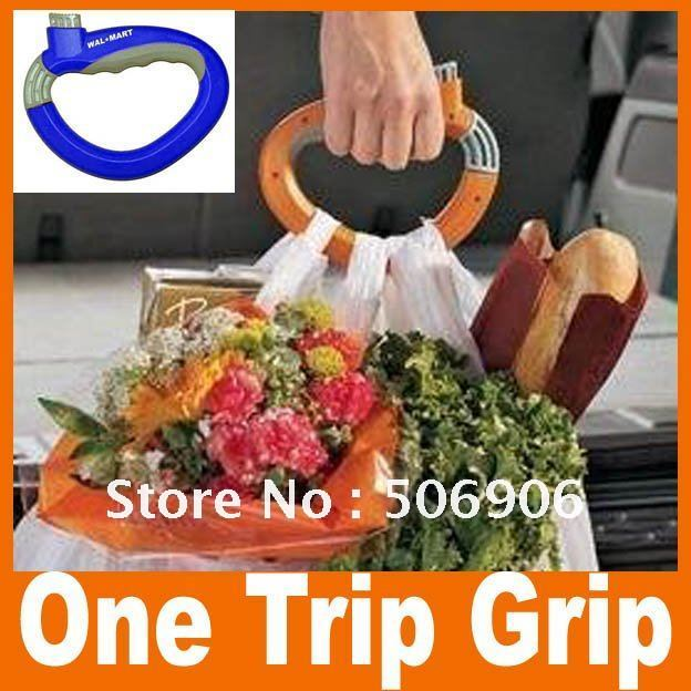 Free Shipping Wholesale One Trip Grip Grocery Bag Holders handle holder grocery bag holders As Seen On TV 10pcs/lot (SN-51)(China (Mainland))