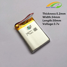 Buy Factory direct lithium polymer battery 523450-900MAH battery Bluetooth stereo CL for $6.08 in AliExpress store
