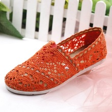 2015 Ladies Flat Lace Shoes Summer Style Round Toe Flats Women Cutouts Solid Shoes Women Moccasins Crochet Slip On Flats Women(China (Mainland))