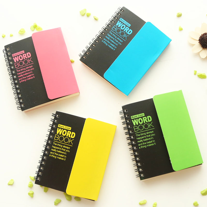 two class - stationery shielding plate English words the fluorescent color language learning and memory manual book(China (Mainland))